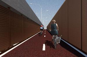 Obra de ampliação da via, que incluirá estrutura para ciclistas nas laterais, deve ficar pronta em três anos e dois meses. Governador Renato Casagrande assina a ordem de serviço nesta quarta-feira (23)