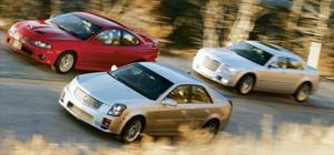 2005 Cadillac CTS-V vs. Chrysler 300C SRT8 vs. Pontiac GTO - Muscle Car Comparison - Motor Trend