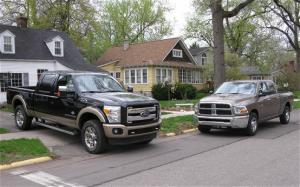 2011 Ford F-250 Super Duty vs 2010 Ram 2500 HD Second Take - Motor Trend