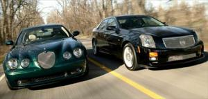 2004 Cadillac CTS-V vs. 2004 Jaguar S-Type R Handling & Overall Comparison - Motor Trend