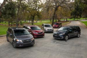 The Big Test: 2015 Minivans - Chrysler, Honda, Kia, Nissan, and Toyota