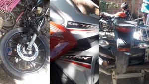 Policiais foram informados que o quintal de uma casa no bairro Inhanguetá era utilizado para o desmonte de motocicletas. O suspeito do crime conseguiu fugir da polícia por telhados e casas vizinhas