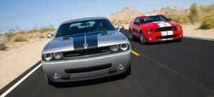 2008 Dodge Challenger SRT8 vs. 2008 Ford Shelby GT500 - Comparison - Motor Trend