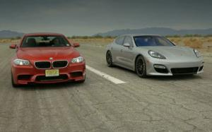 BMW M5 and Porsche Panamera GTS Compete on New Head 2 Head