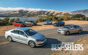 2012-2013 Midsize Sedan Comparison - Chevrolet Malibu, Ford Fusion, Honda Accord, Nissan Altima, Toyota Camry, and Volkswagen Passat - Motor Trend