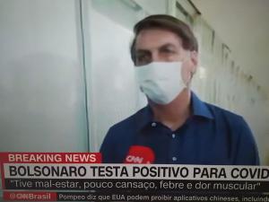 Ao anunciar que foi contaminado pelo novo coronavírus, presidente decidiu tirar a máscara para mostrar que está bem