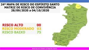 Apesar de o número ser o mesmo do mapa de risco da semana passada, houve mudanças de classificação em alguns municípios