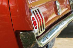 how to add rally pac gauges to a 1965 1966 mustang scott drake s sidewinder billet taillight bezels offer form and function