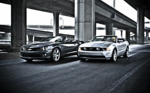 2011 Chevrolet Camaro SS Convertible vs 2011 Ford Mustang GT Convertible - Curb Weight - Motor Trend