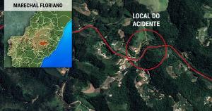 Vegetação e procedimentos de contenção impediram que óleo chegasse ao Rio Jucu; carreta-tanque tombou nesta terça-feira (6) na BR 262