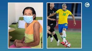 Dona Julita estava eufórica com os três gols do atacante capixaba. A bisavó do craque é conhecida do torcedor brasileiro. Em 2019, o craque dedicou o título da Copa América para ela, mas 'esqueceu' o nome dela na homenagem