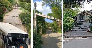 Veículo transportava funcionários de uma subestação de energia elétrica e atingiu sete postes ao desviar de outro ônibus. Cerca de 80 moradores de Vila Nova de Baixo foram afetados