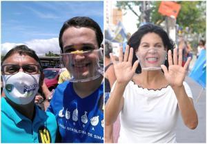 Neuzinha de Oliveira foi candidata a prefeita de Vitória e concorreu contra Pazolini, mas o apoiou no segundo turno. Sandro Parrini também esteve ao lado do atual prefeito em 2020