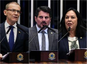 Nenhum dos senadores do ES definiu como vai votar, mas há indícios sobre quem devem escolher. Rodrigo Pacheco (DEM), apoiado por Bolsonaro, e Simone Tebet (MDB), com discurso de oposição ao presidente, são os principais candidatos