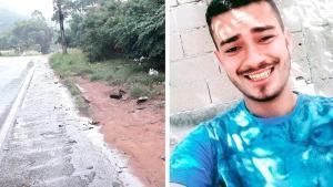O acidente envolvendo três veículos aconteceu na sexta-feira (22) e a motorista de um dos carros saiu do local, sem ser localizada pela polícia. Diego Berude Alves, de 25 anos, morreu e a namorada, que estava com ele na moto, continua internada no hospital