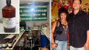 Perícia em amostras de produto vendido como óleo de semente de abóbora e nos corpos de Rosineide Dorneles e Willis Pena identificaram presença de dietilenoglicol, substância altamente nociva. Eles morreram no início deste ano, na Serra