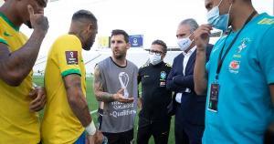 Com o descumprimento da Argentina às leis sanitárias brasileiras, a partida teve que ser paralisada