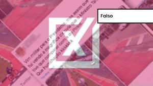 Montagem publicada no Twitter compara imagens de duas ciclovias. A imagem de uma ciclovia danificada, atribuída ao ex-prefeito de São Paulo Fernando Haddad é verdadeira e é de 2015. A segunda é de 2016 e sua construção foi falsamente atribuída ao ministro da Infraestrutura de Bolsonaro, Tarcísio Gomes de Freitas