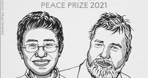 A filipina Maria Ressa e o russo Dmitri Muratov foram os escolhidos em 2021 pela defesa da liberdade de imprensa e de expressão, 'pré-requisitos para sociedades democráticas e para a paz duradoura'