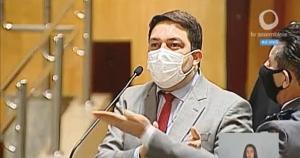 Capitão Assumção (Patriota) e Bruno Lamas (PSB) brigaram após o militar criticar nota de repúdio dos parlamentares à manifestação que aconteceu em frente à casa da mãe do governador Renato Casagrande (PSB)