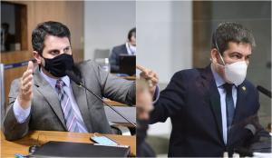 Bate-boca entre os senadores aconteceu durante sessão da CPI da Covid desta quinta-feira (8). Randolfe Rodrigues (Rede-AP) subiu o tom e chegou a gritar com Marcos do Val (Podemos), que rebateu pedindo respeito