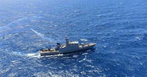 Duas embarcações da Capitania dos Portos, uma da Marinha e um helicóptero foram usados nas buscas