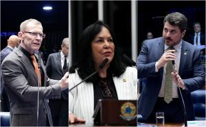 Rose de Freitas (MDB) e Fabiano Contarato (Rede) são dois dos 30 senadores que assinaram o pedido de investigação da atuação do governo federal na pandemia