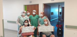 Os dois ficaram internados por 10 dias no mesmo quarto de um hospital em Cachoeiro de Itapemirim