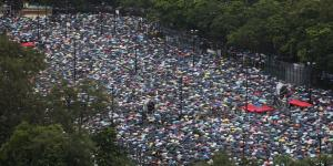 Peaceful Protesters Crowd Hong Kong Park Where Summer of Dissent Began