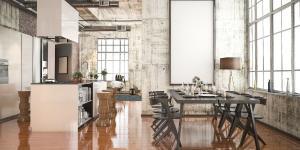 Com uma proposta moderna, essa tendência tem ganhado cada vez mais espaço e é conhecida por trazer personalidade utilizando uma decoração rústica com detalhes minimalistas