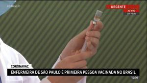 Quantitativo se refere à primeira leva de imunizantes que deve chegar ao Estado nesta segunda-feira (18); uso emergencial foi aprovado pela Anvisa