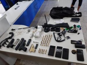 Thiago Moraes Pereira Pimenta, vulgo Panda, foi preso durante operação da Polícia Militar no Bairro da Penha. Ele é irmão do traficante conhecido como Marujo