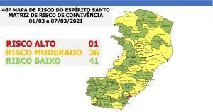 O mapa foi divulgado no início da noite desta sexta-feira (26) durante pronunciamento feito pelo governador Renato Casagrande