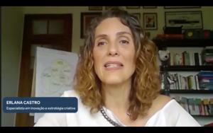 """Professora Erlana Castro, que também é especialista em estratégia criativa, participou da live do Marcas de Valor com o tema """"Novo Contexto das Marcas no século XXI"""""""