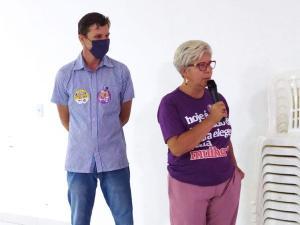 A petista, derrotada no segundo turno na disputa pela prefeitura de Cariacica, fez um pronunciamento em lágrimas ao lado de apoiadores após a confirmação da vitória de Euclério Sampaio (DEM)