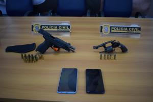 Segundo a polícia, o comerciante tentou vender a arma para traficantes. Inspetor penitenciário Rodrigo Figueiredo da Rosa foi baleado durante um assalto no Morro do Moreno, em Vila Velha, no domingo (10)
