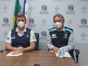 Em nova coletiva de imprensa, na tarde desta terça-feira (26) o secretário de Estado da Saúde, Nésio Fernandes, atualizou as informações da pandemia do novo coronavírus no Estado capixaba
