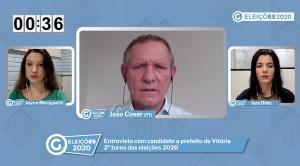 Em entrevista para A Gazeta, João Coser (PT) disse que não esconde relação com Lula e pediu que eleitores relevem a questão partidária na hora de votar: 'O João tem uma história...não tem necessidade de colocar o PT nesse debate.'