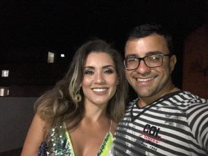 Marcella Rossoni, mulher de Tiago Rocha (PSL), assumiu a pasta de Assistência Social, com salário de R$ 6,3 mil