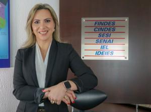 Cristhine é a primeira mulher a comandar a Federação das Indústrias do Espírito Santo (Findes) e a terceira a representar o setor industrial no país