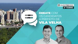 Arnaldinho Borgo (Podemos) e Max Filho (PSDB) frente a frente no debate A Gazeta e CBN Vitória