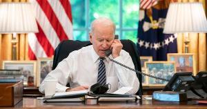 'Vamos defender nossos aliados e nossos amigos e nos opor às tentativas de países mais fortes de dominar outros mais fracos', comentou o presidente dos EUA