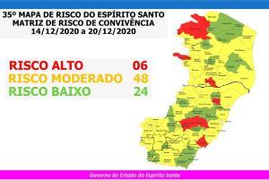 Governador do Estado, Renato Casagrande anunciou o novo mapa de risco em pronunciamento no início da noite desta sexta-feira (11); o 35° mapa começa a valer a partir de segunda-feira (14)