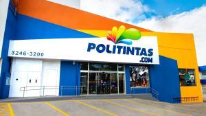 Fundada em 1975, a Politintas é uma empresa genuinamente capixaba que atua no segmento de tintas imobiliárias, industriais e automotivas, além de material para pintura, ferramentas e outros artigos para decoração e manutenção do lar.