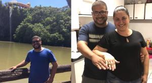 Tiago Guilhermino havia conseguido um emprego novo há um mês. Ele ficou noivo da psicóloga Caroline Caldeira em janeiro
