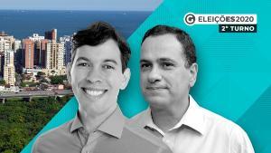 O vereador Arnaldinho Borgo (Podemos) e o prefeito Max Filho (PSDB) disputam o segundo turno das eleições