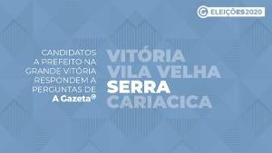 A Gazeta realiza entrevistas em vídeo com os candidatos a prefeito das maiores cidades da Grande Vitória. Nas conversas, os postulantes apresentam e detalham suas propostas sobre os principais temas do município