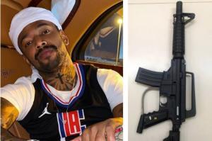 Polícia Civil foi ao local após 'notícia veiculada nos meios de mídia' indicando que Nego do Borel 'possuiria em sua residência um fuzil'