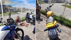 Pai, filho e um adolescente foram detidos nesta terça-feira (11) com motos e carros roubados ou adulterados; Guarda de Vila Velha fez operação após denúncia de venda ilegal na internet