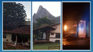 Incêndio começou na madrugada deste domingo (22) e as chamas foram controladas pelo Corpo de Bombeiros já pela manhã